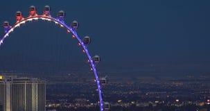 Ρόδα Ferris τη νύχτα στο Λας Βέγκας απόθεμα βίντεο
