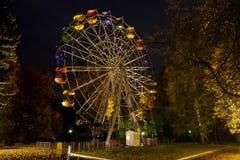 Ρόδα Ferris τη νύχτα στο πάρκο Στοκ φωτογραφία με δικαίωμα ελεύθερης χρήσης