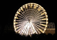 Ρόδα Ferris τη νύχτα Στοκ Φωτογραφίες