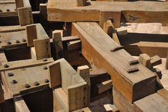 ρόδα noria λεπτομέρειας ξύλιν&et Στοκ φωτογραφία με δικαίωμα ελεύθερης χρήσης