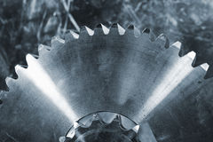 Ρόδες εργαλείων τιτανίου και χάλυβα Στοκ Εικόνες
