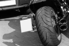 Ρόδες μοτοσικλετών και σύστημα εξάτμισης Στοκ φωτογραφία με δικαίωμα ελεύθερης χρήσης