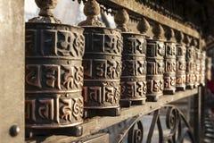 ρόδες προσευχής του Κατμαντού Νεπάλ Στοκ Φωτογραφία
