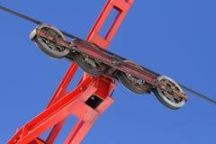 ρόδες σκι ανελκυστήρων Στοκ φωτογραφία με δικαίωμα ελεύθερης χρήσης