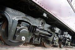 Ρόδες στη μεταφορά σιδηροδρόμου στοκ φωτογραφία με δικαίωμα ελεύθερης χρήσης