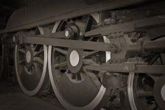 ρόδες τραίνων ατμού Στοκ εικόνες με δικαίωμα ελεύθερης χρήσης