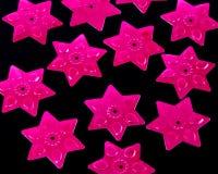 Ρόδινα αστέρια τσεκιών Στοκ Εικόνες