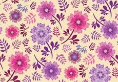 Ρόδινα και πορφυρά λουλούδια ελπίδας άνοιξη διανυσματική απεικόνιση