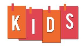 Ρόδινα κολλημένα πορτοκάλι λωρίδες παιδιών Στοκ φωτογραφίες με δικαίωμα ελεύθερης χρήσης