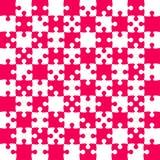 Ρόδινα κομμάτια γρίφων - διάνυσμα τορνευτικών πριονιών - σκάκι τομέων Στοκ φωτογραφία με δικαίωμα ελεύθερης χρήσης