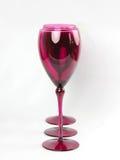 Ρόδινα κομψά γυαλιά κρασιού Στοκ Εικόνες