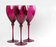 Ρόδινα κομψά γυαλιά κρασιού Στοκ εικόνα με δικαίωμα ελεύθερης χρήσης