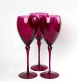 Ρόδινα κομψά γυαλιά κρασιού Στοκ εικόνες με δικαίωμα ελεύθερης χρήσης