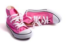 ρόδινα παπούτσια καλαθο&si στοκ φωτογραφίες