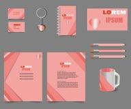 Ρόδινα πρότυπα επιστολών επιχειρησιακού ύφους για το σχεδιασμό προγράμματός σας διανυσματική απεικόνιση