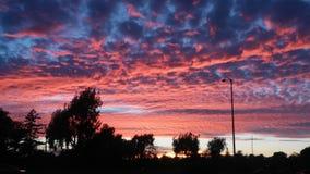 Ρόδινα σύννεφα Στοκ φωτογραφία με δικαίωμα ελεύθερης χρήσης