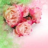 Ρόδινα τριαντάφυλλα λουλουδιών Στοκ Φωτογραφία