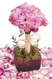 ρόδινα τριαντάφυλλα πετάλων Στοκ Φωτογραφία