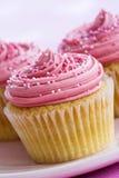 Ρόδινα cupcakes Στοκ Φωτογραφίες