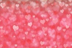 Ρόδινες καρδιές bokeh αφηρημένο μωσαϊκό απεικόνισης σχεδίου ανασκόπησης Στοκ Εικόνες