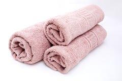 Ρόδινες πετσέτες Στοκ Εικόνα