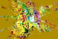Ρόδινες πορτοκαλιές μπεζ εύθυμες μορφές κρητιδογραφιών, αφηρημένα χρώματα κρητιδογραφιών Στοκ φωτογραφία με δικαίωμα ελεύθερης χρήσης