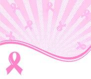 ρόδινη ανασκόπηση υποστήριξης καρκίνου του μαστού κορδελλών απεικόνιση αποθεμάτων