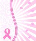 Ρόδινη ανασκόπηση υποστήριξης καρκίνου του μαστού κορδελλών ελεύθερη απεικόνιση δικαιώματος