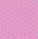 Ρόδινη αφηρημένη Hexagon σύσταση Hexagon υπόβαθρο σχεδίων ελεύθερη απεικόνιση δικαιώματος