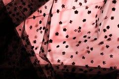 Ρόδινη δαντέλλα στο άσπρο υπόβαθρο Το Extravagance και η κομψότητα είναι COM στοκ εικόνες