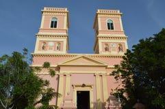 Ρόδινη εκκλησία, Pondicherry Στοκ φωτογραφία με δικαίωμα ελεύθερης χρήσης