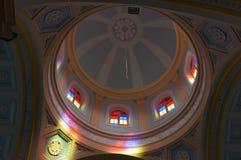 Ρόδινη εσωτερική άποψη εκκλησιών, Pondicherry Στοκ φωτογραφίες με δικαίωμα ελεύθερης χρήσης