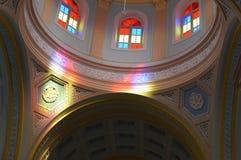 Ρόδινη εσωτερική άποψη εκκλησιών, Pondicherry Στοκ Εικόνα