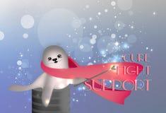 ρόδινη κορδέλλα απεικόνι&sig στοκ εικόνες με δικαίωμα ελεύθερης χρήσης