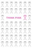 Ρόδινη κορδέλλα καρκίνου του μαστού Στοκ Εικόνα