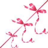 ρόδινη κορδέλλα τόξων Στοκ εικόνα με δικαίωμα ελεύθερης χρήσης