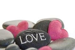 ρόδινη πέτρα καρδιών Στοκ φωτογραφίες με δικαίωμα ελεύθερης χρήσης