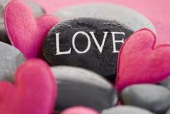 ρόδινη πέτρα καρδιών Στοκ Φωτογραφία