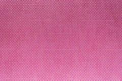 Ρόδινη πλαστική επιφάνεια υποβάθρου με το σχέδιο τετραγώνων Στοκ Εικόνες