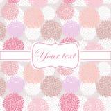 Ρόδινη πρόσκληση καρτών με pion τα λουλούδια διανυσματική απεικόνιση