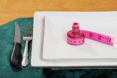 ρόδινη ταινία πιάτων μέτρου Στοκ εικόνες με δικαίωμα ελεύθερης χρήσης
