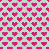 ρόδινη ταπετσαρία καρδιών διανυσματική απεικόνιση