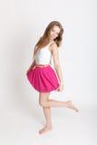 ρόδινη φούστα κοριτσιών Στοκ εικόνα με δικαίωμα ελεύθερης χρήσης
