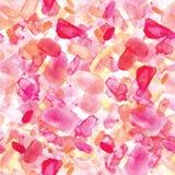 Ρόδινοι άνευ ραφής λεκέδες watercolor σχεδίων στο άσπρο υπόβαθρο Στοκ Φωτογραφία