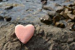 Ρόδινος αλατισμένος αριθμός καρδιών Στοκ φωτογραφία με δικαίωμα ελεύθερης χρήσης