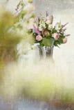 Ρόδινος αυξήθηκε ανθοδέσμη λουλουδιών Στοκ Εικόνα