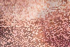 Ρόδινος αυξήθηκε χρυσά τετραγωνικά κεραμίδια μωσαϊκών για το υπόβαθρο στοκ εικόνες