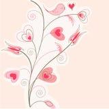 ρόδινος βαλεντίνος δέντρ&omeg απεικόνιση αποθεμάτων