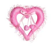 ρόδινος βαλεντίνος καρδ& Στοκ εικόνα με δικαίωμα ελεύθερης χρήσης