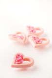 ρόδινος βαλεντίνος καρδ& Στοκ Φωτογραφία